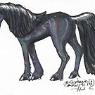 Black Unicorn by Stephanie Small