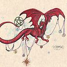 Dragon with Planets by Stephanie Small