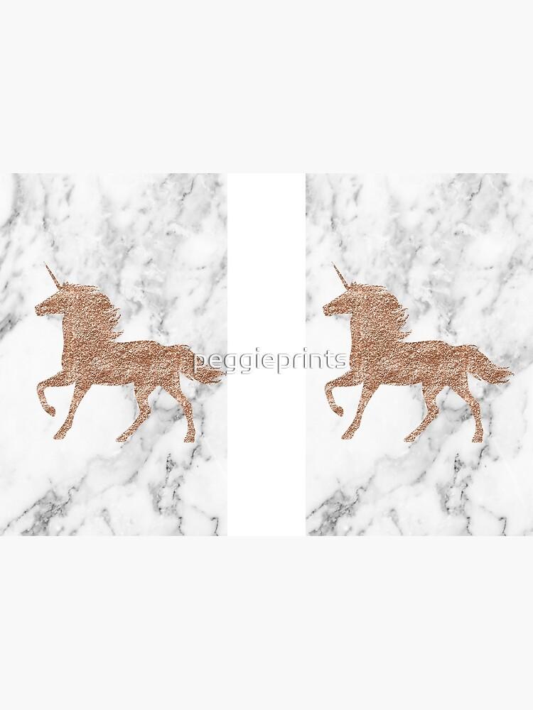 Rosen-Goldmarmor-Einhorn von peggieprints