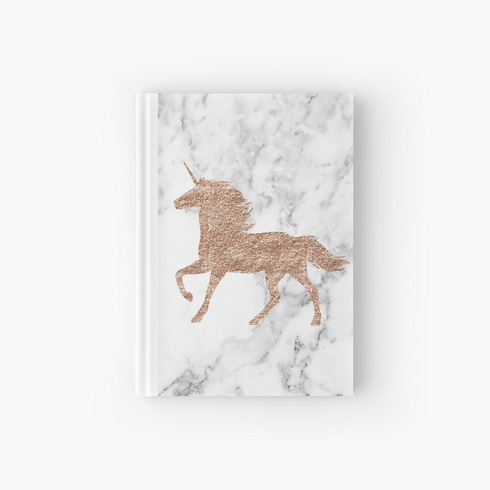 Rosen-Goldmarmor-Einhorn Notizbuch
