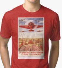 Mighty Soviet Aviation Tri-blend T-Shirt