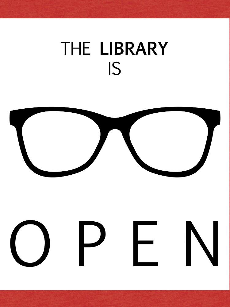 Die Bibliothek ist geöffnet von iamdan