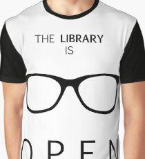 Die Bibliothek ist geöffnet Grafik T-Shirt
