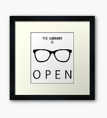The Library is Open Framed Print