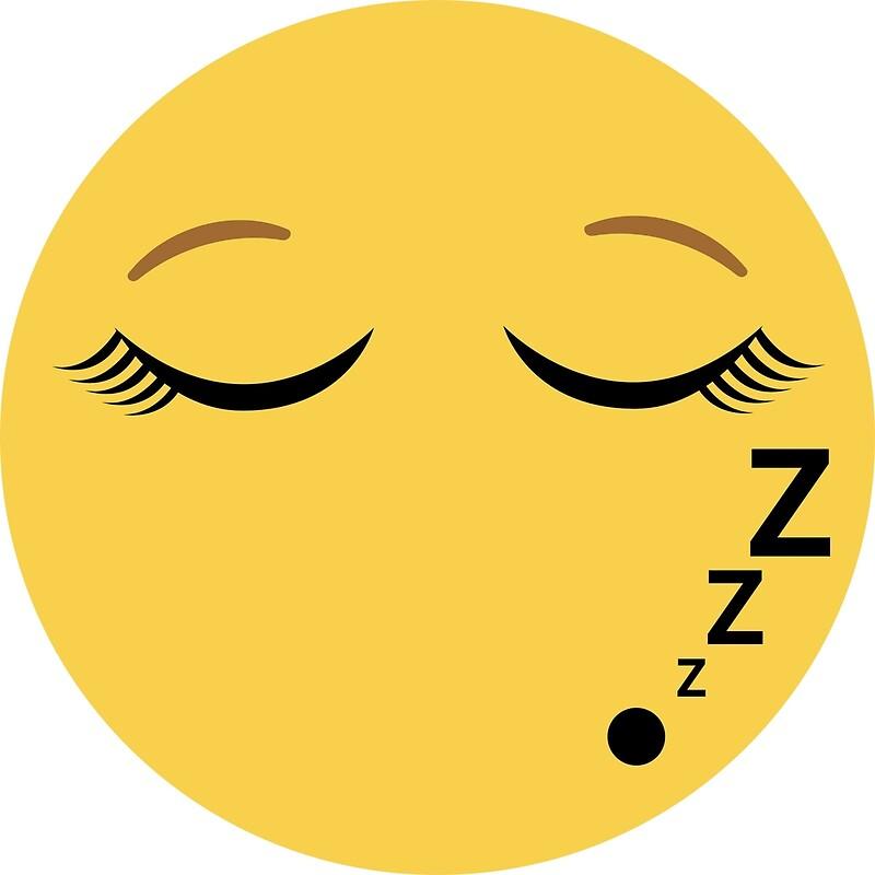 Sleeping Emoji with eyelashes\
