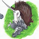 Unicorn and Horses by Stephanie Small