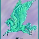 Teal Pegasus by Stephanie Small