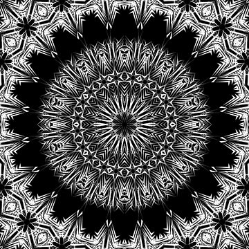 Black & White Line Kaleidoscope by fantasytripp