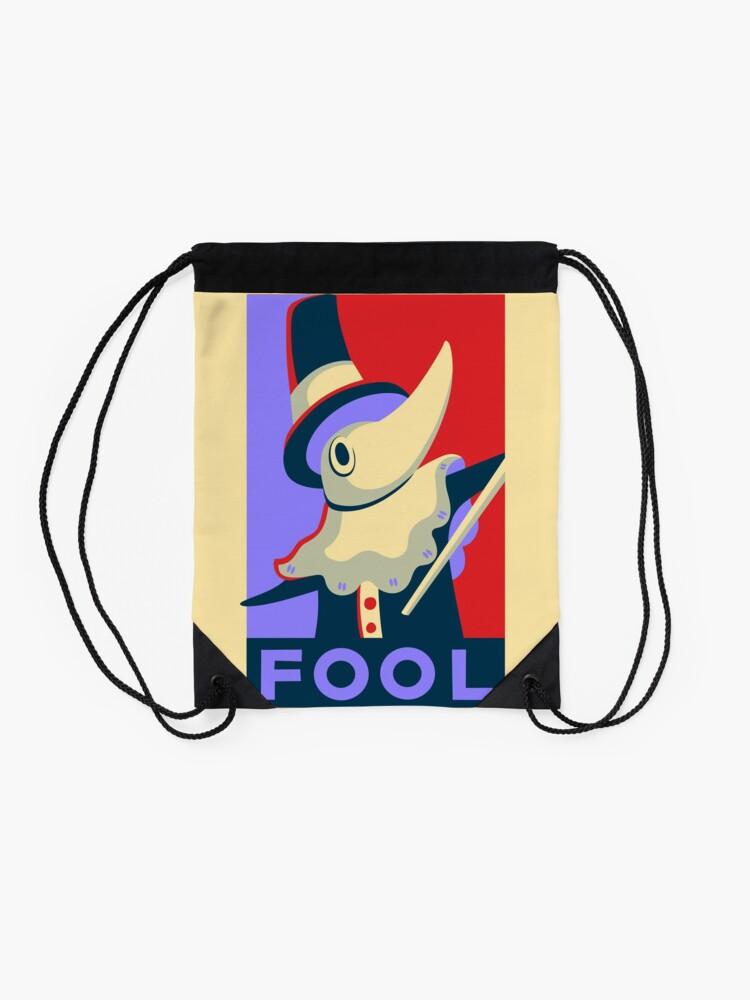 Alternate view of Excalibur FOOL Propaganda Drawstring Bag