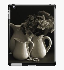 Pitchers and Flowers in Monotone iPad Case/Skin