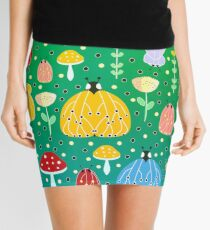 Colorful bugs and moths Mini Skirt