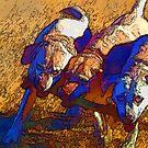 Labradors mit ihrem Stock von Marlene Watson