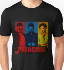 Preacher Red, Blue & Yellow Design Unisex T-Shirt
