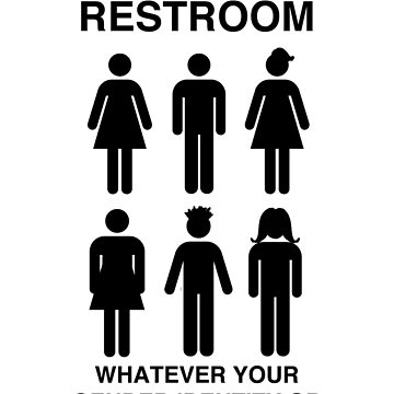 Inclusive Restroom Sign by wanungara