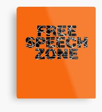 Free Speech Zone Metal Print
