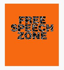 Free Speech Zone Photographic Print