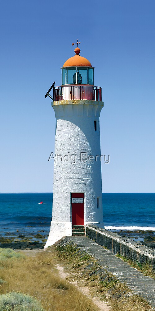 Griffiths Island Lighthouse, Port Fairy, Australia by Andy Berry