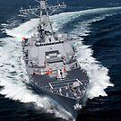 Die Pre-Commissioning Unit Jason Dunham führt Seeversuche im Atlantischen Ozean durch. von StocktrekImages