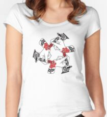 Tattoo Hands Women's Fitted Scoop T-Shirt