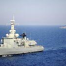 Portugiesische Marine Fregatte NRP Bartolomeu Dias auf der Durchreise im Mittelmeer. von StocktrekImages