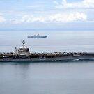 Der Flugzeugträger USS George Washington fährt im Gelben Meer. von StocktrekImages