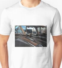 Two black elegant cars, front with windscreen T-Shirt