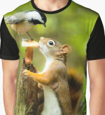 Chipmunk Graphic T-Shirt