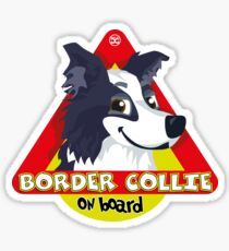 Border Collie On Board - Blue Male Sticker
