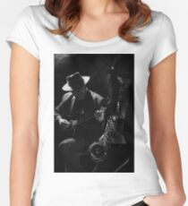 Sax and Guitar Women's Fitted Scoop T-Shirt
