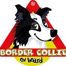 Border Collie On Board - Black & White Male by DoggyGraphics