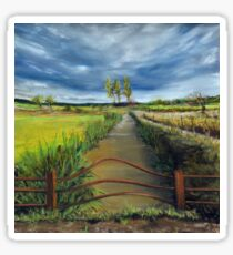 Summer Clouds Over The Somerset Levels Sticker
