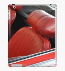 Two red leather seats of convertible car iPad Case/Skin
