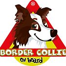 Border Collie On Board - Dark Brown Male by DoggyGraphics