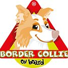 Border Collie On Board - Red Male by DoggyGraphics