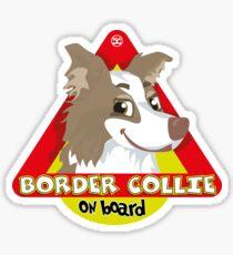 Border Collie On Board - Lilac Male Sticker