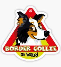 Border Collie On Board - Black Tricolor Male Sticker