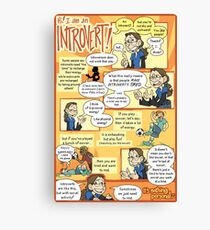 Hi! I am an Introvert! Canvas Print
