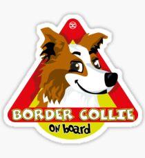 Border Collie On Board - Saber Male Sticker