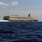 Das Sea Fighter Küstenkampfschiff führt eine Hochgeschwindigkeitslauf vor der Küste von Florida. von StocktrekImages