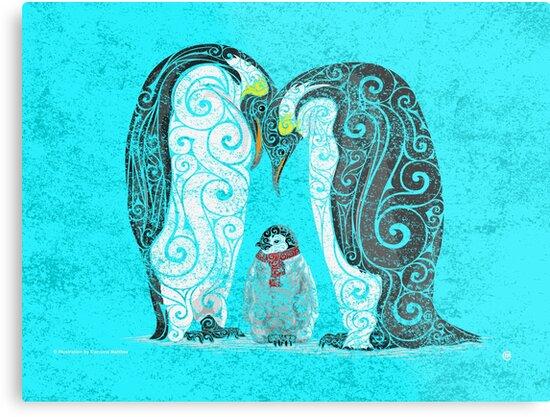 Swirly Penguin Family by SwirlyDesign