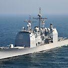 Der Ticonderoga-Klasse-Lenkwaffenkreuzer USS Shiloh. von StocktrekImages