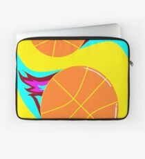 Basketballs in Hot Colors Laptop Sleeve