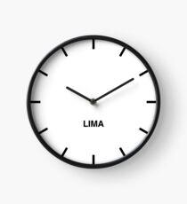 Newsroom Wall Clock Lima Time Zone Clock