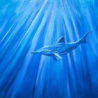 Dolphin in blue 1 von Kissart