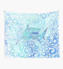 Swirly Shark Wall Tapestry