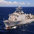 USS Comstock durchquert den Indischen Ozean. von StocktrekImages