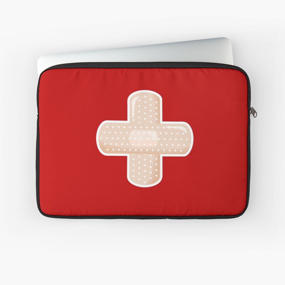 First Aid Plaster Laptop Sleeve