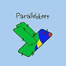Parallelokeet (Parallelogram Parakeet text) by jezkemp