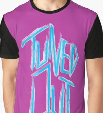 Tuned out -  Neon 80's punk Graphic T-Shirt