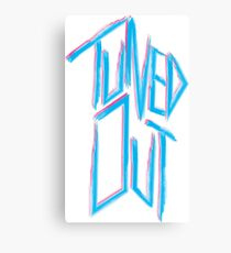 Tuned out -  Neon 80's punk Canvas Print